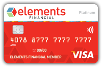 Your bright red credit card from Elements
