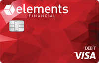 Elements Red Debit Card